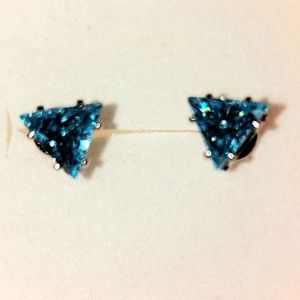 S925 Blue Topaz Earrings
